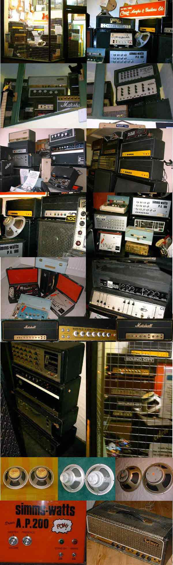 Vintage & rare collectable Selmer Matamp Marshall Vox Fender Wem Park Orange Burns Marshall Sound City Hiwatt. Vintage & Rare Collectable Tube amp heads, Tube Amp Combos, Used Guitar Amps Spares, vacuum tubes, Guitar Amp Spares, guitar Speakers, guitar Speaker Cabinets, Guitar Pedals, Used Guitars, Guitar Accessories, Guitar Strings, Music Magazines, Vintage Vinyl.